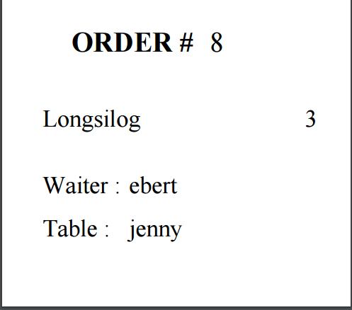 print order reciept