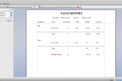 sales report by product